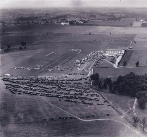 Air Meet held at Pitcairn Field, Bryn Athyn, PA, 1925 (Source: Hagley Museum)