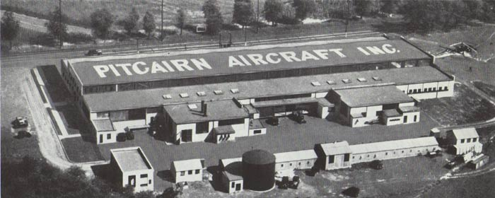 Pitcairn Aircraft, Inc. Manufacturing Facility, Ca. 1930 (Source: Pitcairn)